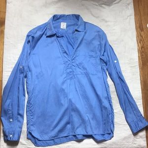 Gap half button down shirt in Light Blue
